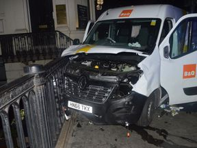 The van used in the London Bridge attacks