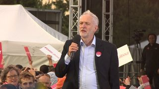 Jeremy Corbyn campaigning in Birmingham with one day to go before the election