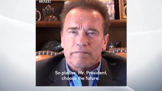 Arnold Schwarzenegger appeals to Donald Trump to rethink his approach to climate change