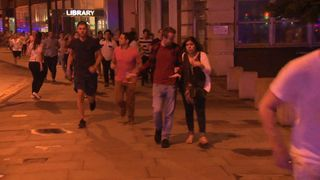 People run away from London Bridge