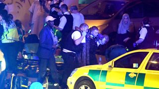 Energency teams tend to those injured in the Finsbury Park attack