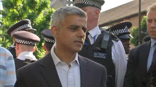 Sadiq Khan fields some difficult questions on the street near Grenfell Tower