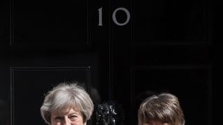 Theresa May with DUP leader Arlene Foster