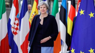 Britain's Prime Minister Theresa May arrives for an European Union leaders summit, on June 22, 2017, at the European Council in Brussels
