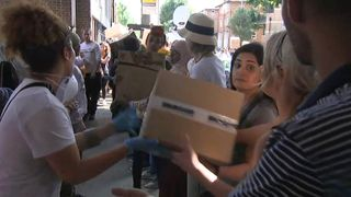Hundreds of volunteers assist with essentials for those affected by the Grenfell Tower fire