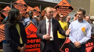 Tim Farron urges his supporters to carry on campaigning until the last possible minute