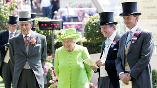 Prince Philip and Queen Elizabeth at Ascot