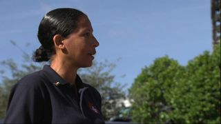 Lucy Masoud, a West London firefighter and an official in the Fire Brigades Union