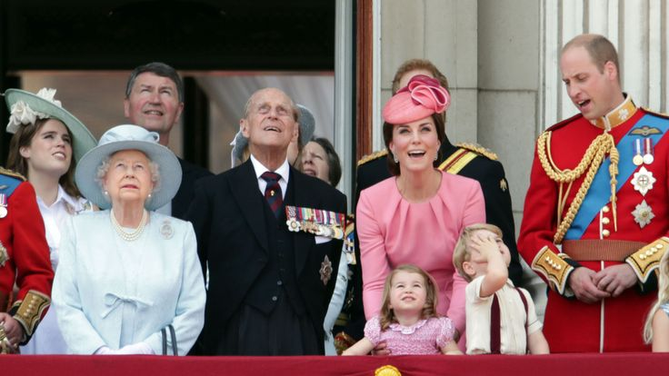 The royal family on the Buckingham Palace balcony