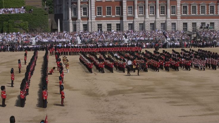 A Guardsman faints during the Trooping the Colour ceremony at Horse Guards Parade
