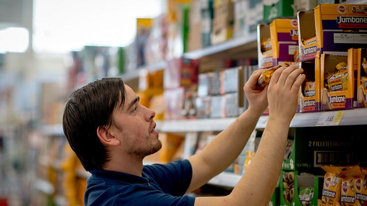 Tesco staff pick items in-store for home deliveries
