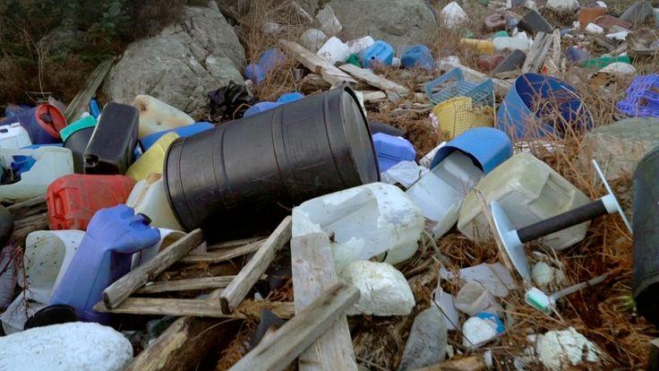 Plastic washes up across Norway's 100,000km of coastline.