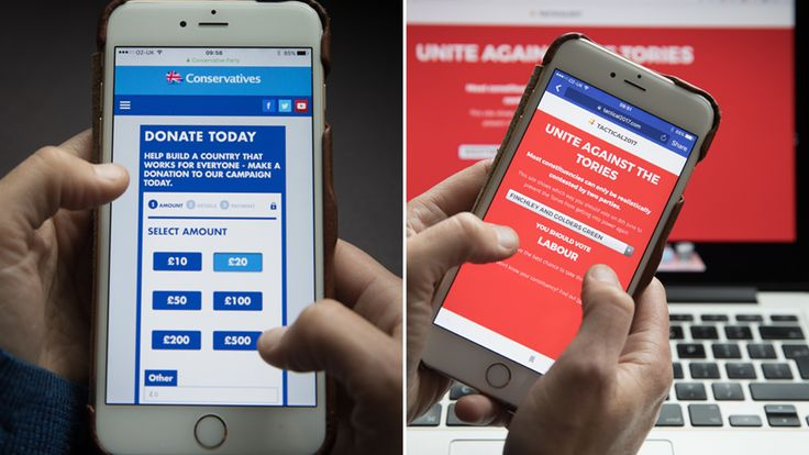 All the parties are using the internet to target voters in the invisible election