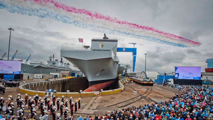 The Royal Navy's new aircraft carrier HMS Queen Elizabeth