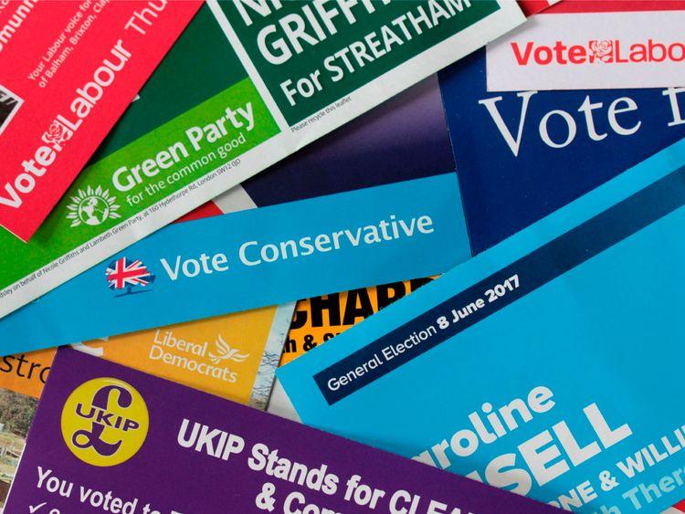 General Election leaflets