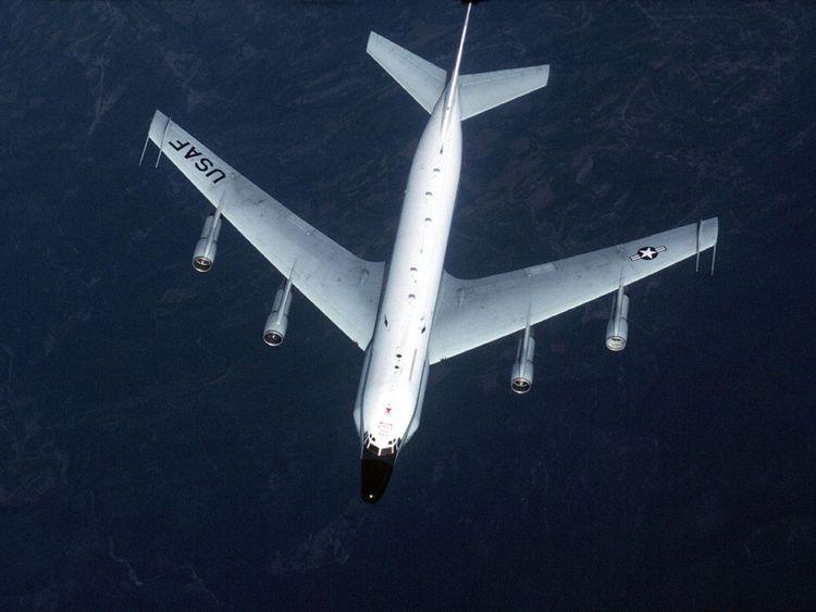 This undated U.S. Air Force handout image shows a RC-135 Reconnaissance plane