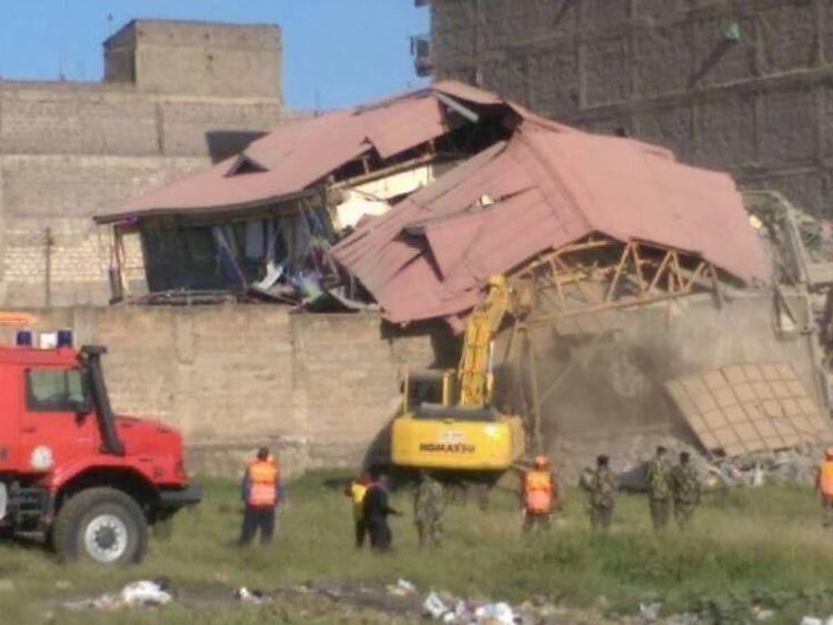 Excavators move in