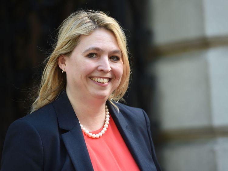Culture Secretary Karen Bradley at Downing Street