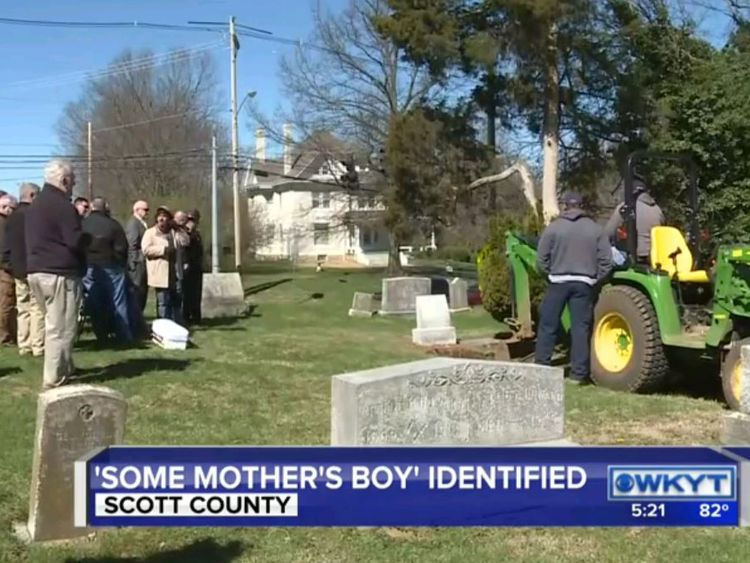 Frank Haynes's remains were exhumed. Pic: WKYT.com