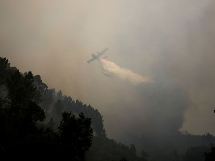 More than 1,000 firefighters had tackled the wildfire in Pedrogao Grande