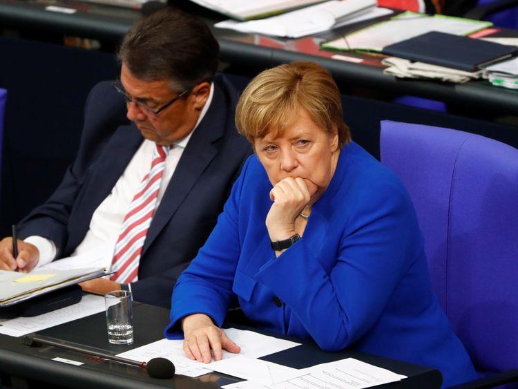 Angela Merkel attends vote on same sex marriage which was passed despite her voting against it