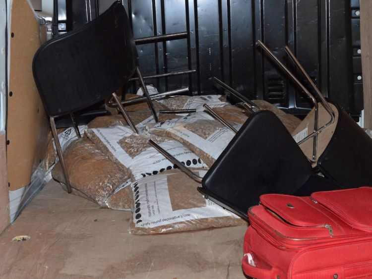 Inside the van used in the London Bridge attacks