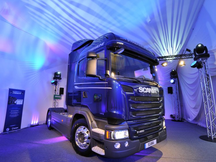 Scania manufactures trucks, buses and coaches