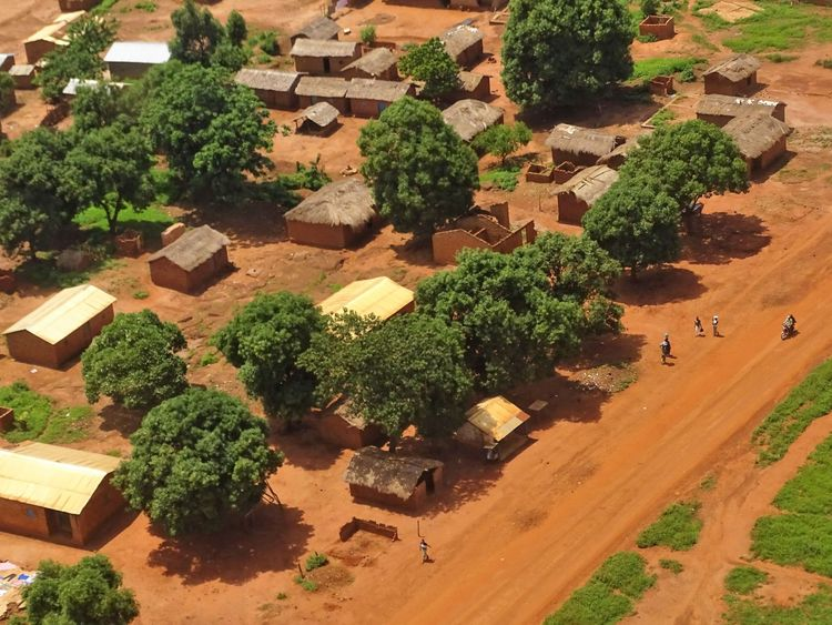 More than 40,000 people have fled Bria - many into the bush - since mid-May