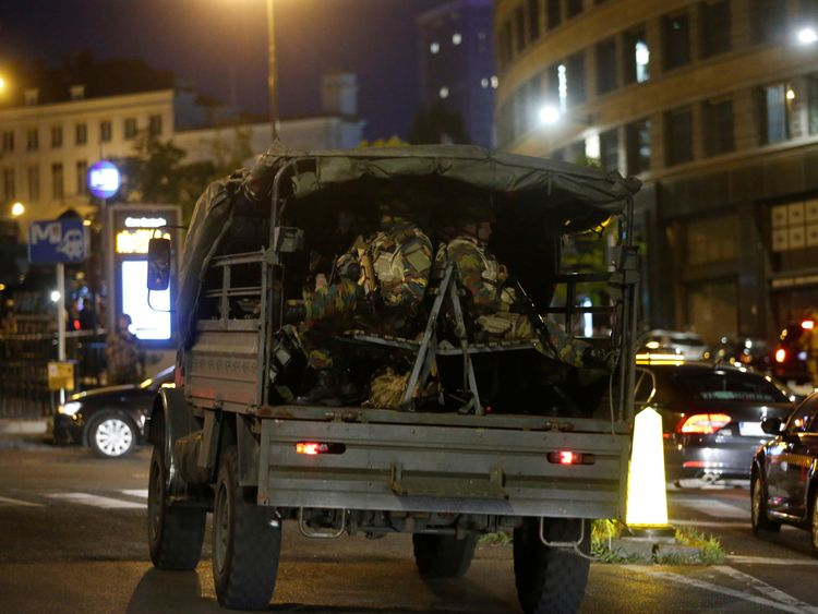 Belgian troops and police are at the scene of the terror attack 'in large numbers'