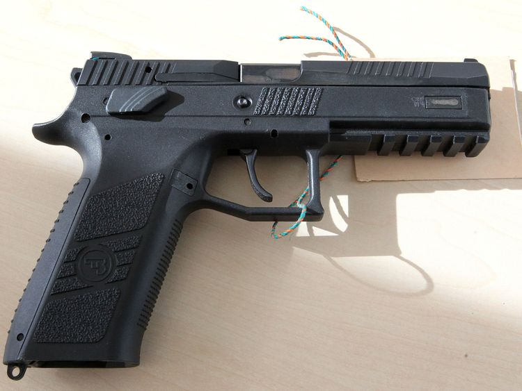 A gun seized by the police in connection with the detention of a dealer involved in the July rampage in a Munich shopping centre