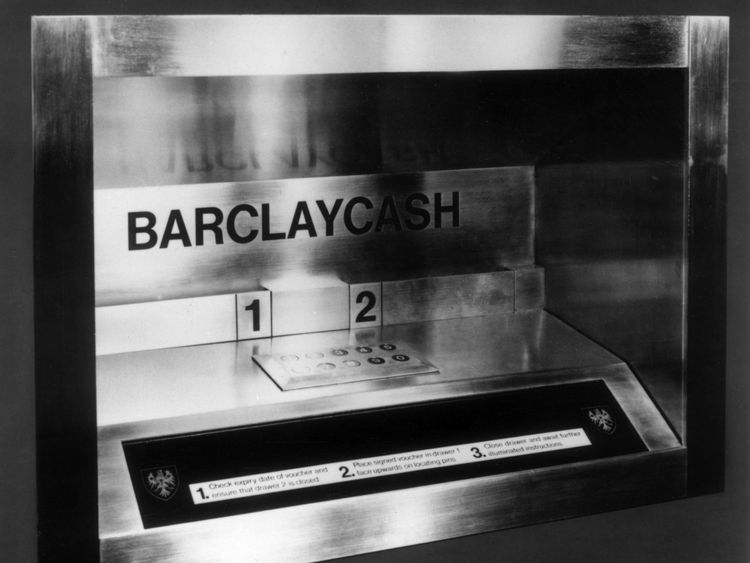 Barclaycash was the UK's first automated cash point