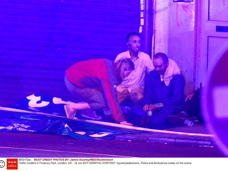 People injured in the Finsbury Park attack