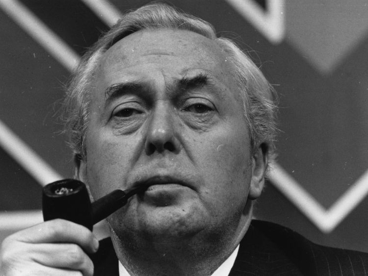 Labour's Harold Wilson led a minority government in 1974