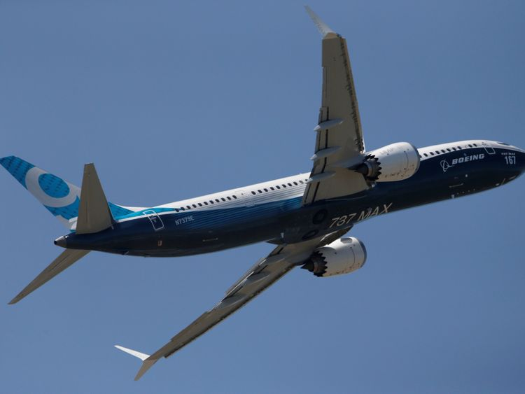 A Boeing 737 Max takes part in a flyng display at the first day of the 52nd Paris Air Show at Le Bourget airport near Paris, France June 19, 2017