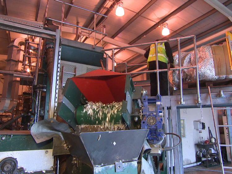Plastics recycling centre