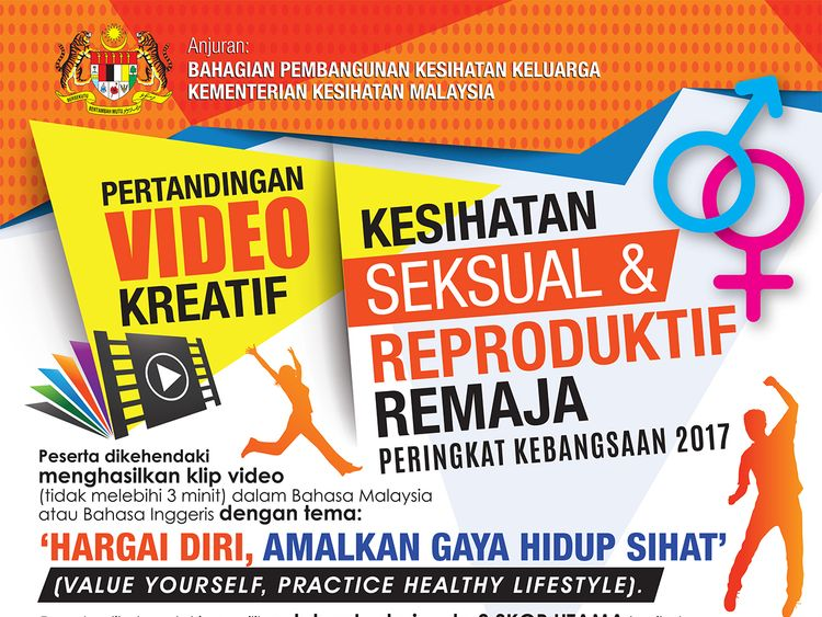 "A poster advertising a contest from Malaysia's health ministry for videos explaining how to ""prevent"" homosexuality."