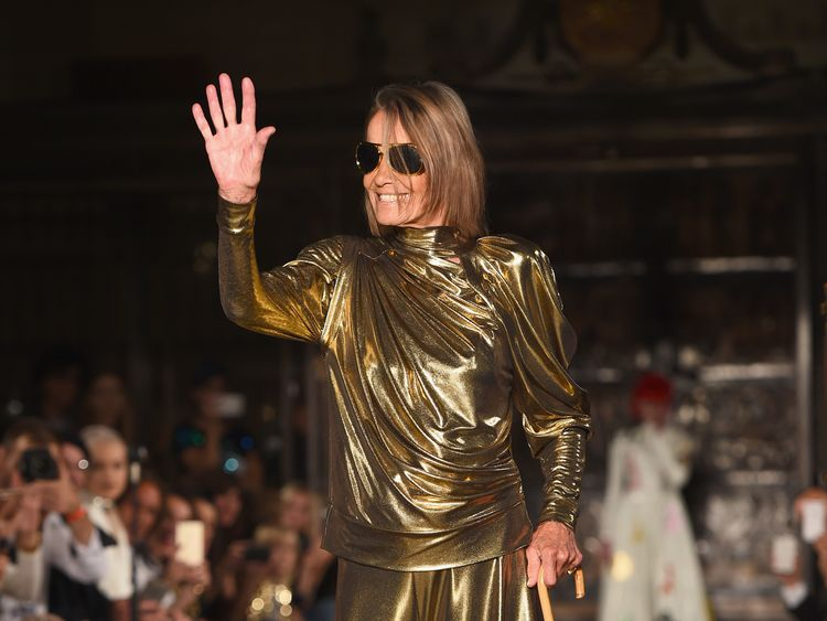 Pallenberg walks the runway during London Fashion Week in September 2016