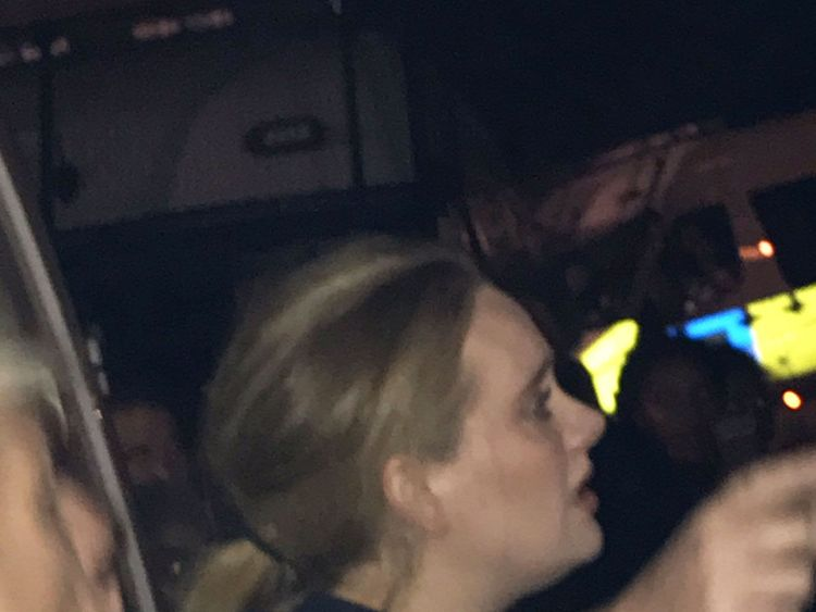 Adele made a low-key visit to the scene following the blaze. Pic: @FourMee/PA Wire
