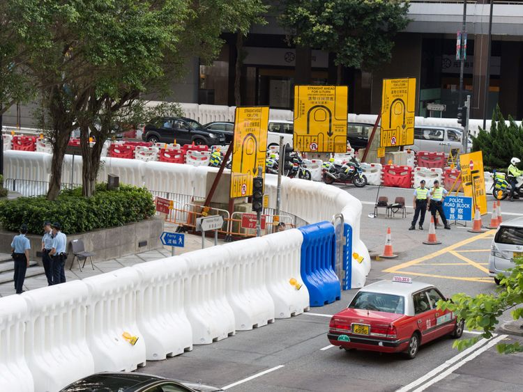 Security measures in place ahead of the 20th anniversary of Hong Kong's handover to China