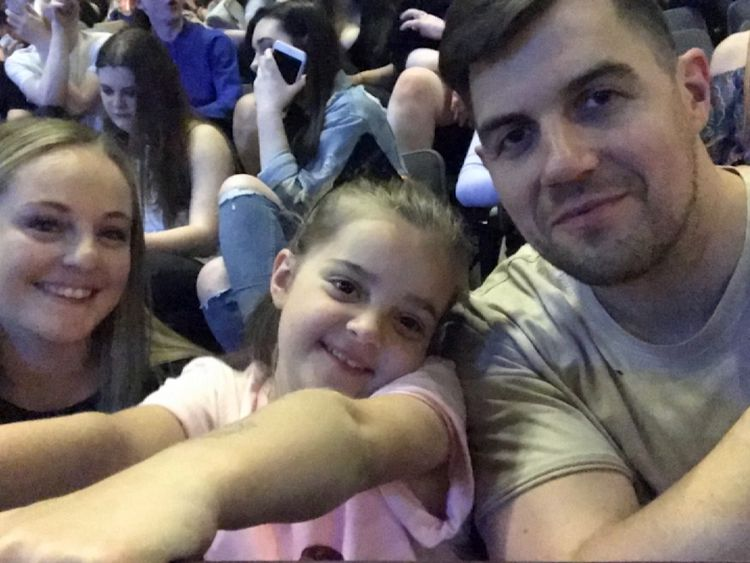 Lily and her parents Adam and Lauren were injured in the Manchester attack