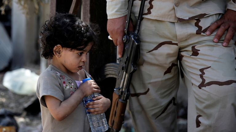 Civilians have fled the fighting between Iraqi forces and Islamic State militants