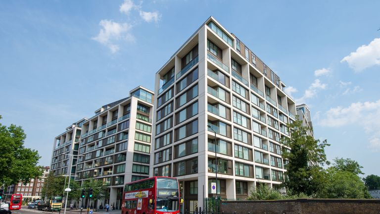 Kensington Row development where some Grenfell Tower survivors are to be re-housed