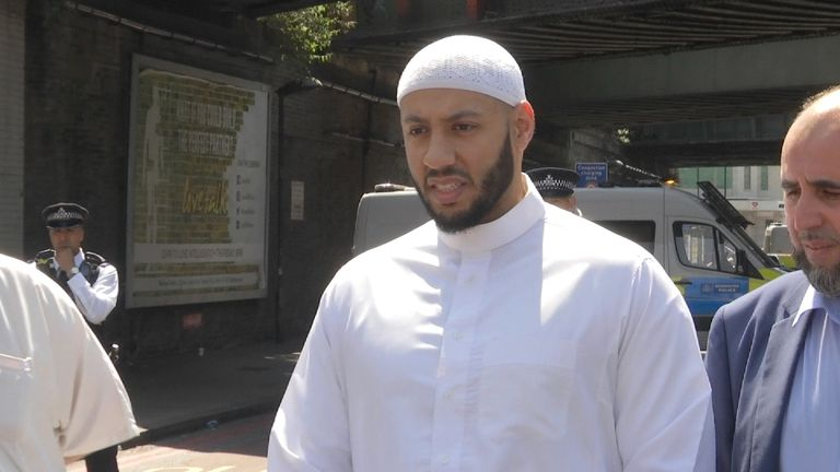 Imam Mohammed Mahmoud has been praised for his actions