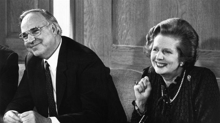Mr Kohl formed a close alliance with British Prime Minister Margaret Thatcher
