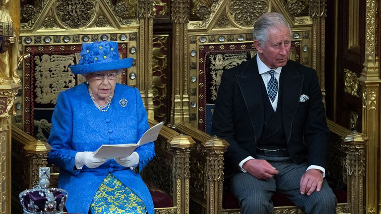 Prince Charles joined the Queen for the State Opening of Parliament