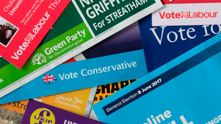 General Election leaflets