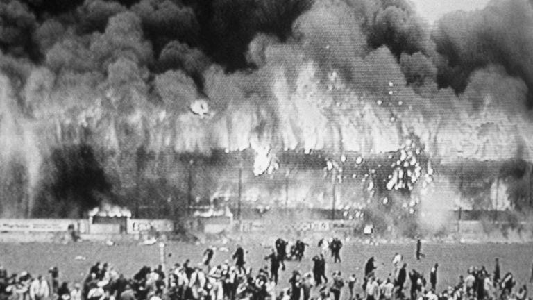 Bradford City's football ground fire