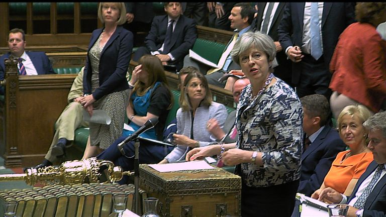 """May to EU migrants: """"We want you to stay"""""""