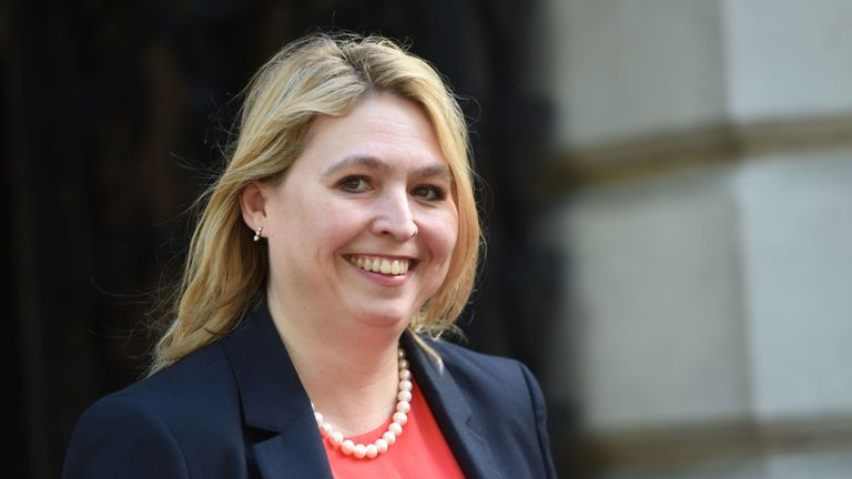 Culture Secretary Karen Bradley at Downing Street