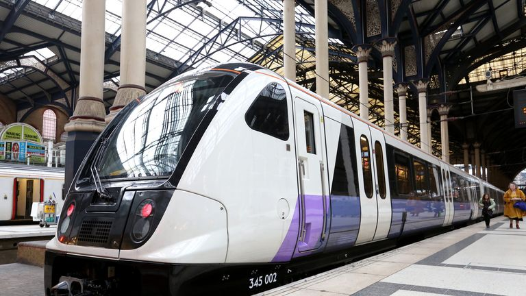 First Elizabeth line train is introduced.